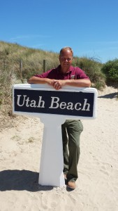 D-Day tour guide Rene at Utah Beach