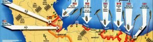 D-Day invasion area map